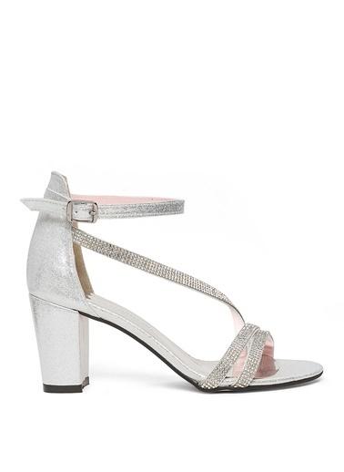Sole Sisters Topuklu Sandalet Gümüş - Olivi2 Gri
